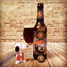 """...Hot Dogs & Beer... Bratwurst & Wine..."""" 🐶 @schoppebraeu ~ #schoppebräu ~ #berlinerschnauze ~ #dunkelmunichlager ~ 5.8%ABV 🍺 A Wonderful Dark Brew, Adorned With Awesome Graffiti Style Art & One Cool Looking Dog... Brewed To Honour Berlin's Many Police Dogs... A Great Salute To Mans Best Friend!This Brew Is Deceptively Fruity For A Darker Craft... Spiked With Toffee Aroma Leading To Rich Munich Malts, Hints Of Brown Sugar & Sweet Nutty Tones... With A Subtle Hint Of Cloves…"""