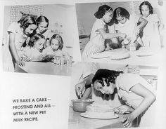The Fultz quads bake a cake with a Pet Milk recipe