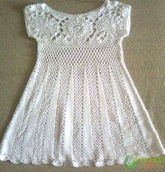 Crochet Baby Dress Pattern Free Easy Crochet Baby Dress Pattern Free Easy Crochet Baby Dress Pattern Free Easy Free Crochet Pattern Easy Ba Dress Make. Crochet Baby Dress Pattern, Baby Dress Patterns, Crochet Baby Clothes, Crochet Blouse, Crochet Patterns, Knitting Patterns, Skirt Patterns, Crochet Dresses, Easy Knitting