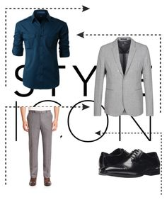 """Teddy Boy"" by akansha125 on Polyvore featuring LE3NO, Stacy Adams, Emporio Armani, Ermenegildo Zegna, men's fashion and menswear"
