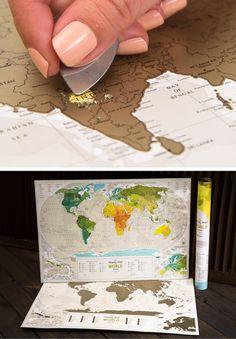 Welt Karte Kratzer aus schon wo Sie von TheMapLab auf Etsy