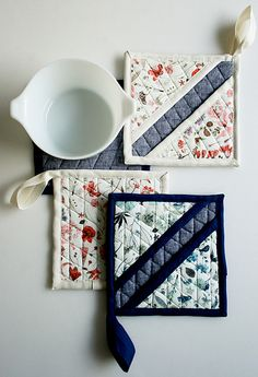 Molly's Sketchbook: Liberty Hot Pads