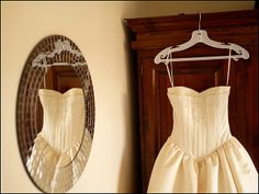 love the dress, but you couldnt find a better hanger for your WEDDING dress?