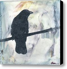 Stealing the Sun - The crow sits on the wire as the sun comes up, soaking in the warmth, the light and the mystery of stories past.