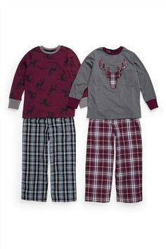 Reindeer Woven Pyjamas Two Pack (3-16yrs)