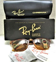 7cfa0b3edf Ray-Ban USA NOS Vintage B L Asbury Chromax W1725 Driving Series New  Sunglasses
