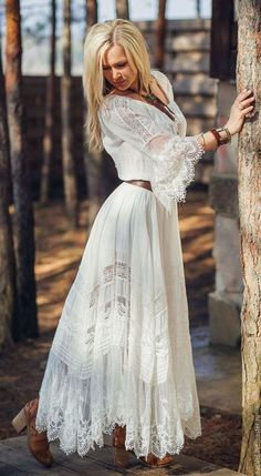boho western style - - Hochzeitskleid 2019 - Lilly is Love Country Western Dresses, Country Wedding Dresses, Country Outfits, Boho Wedding, Dress Wedding, Western Dresses For Women, Country Western Wedding Dresses, Country Western Fashion, Country Style Dresses