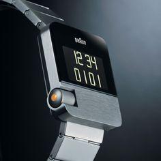 Braun digital watch - German Made Amazing Watches, Cool Watches, Watches For Men, Wrist Watches, Men's Watches, Bape, Braun Dieter Rams, Date Night Ideas For Married Couples, Design Industrial