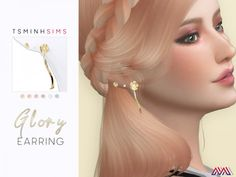 The Sims 4 Glory Earring Sims 4 Mods, Sims 1, Sims 4 Stories, Skin Piercing, Sims 4 Piercings, The Sims 4 Skin, Sims 4 Cc Kids Clothing, Rose Clothing, Sims Four