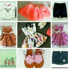 New Little girl sz 4t 10 pc Skirt Short outfit clothing lot Children's Place etc #ChildrensPlaceother #DressyEverydayHoliday