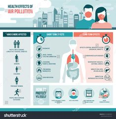 Health effects of air pollution on human body, short and long term effects and diseases; vector infographic with icons , Air Pollution Project, Air Pollution Poster, Noise Pollution, Research Poster, Medical Brochure, Heart And Lungs, Reproductive System, Central Nervous System, Cardiovascular Disease