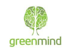 Green Mind Designed by TakeFive Brain Illustration, Brain Logo, Love Logo, Tree Logos, Logo Color, Business Website, Self Help, Logo Design, Mindfulness