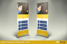 Education Roll-Up Banner - v018 by NEXDesign on @creativework247