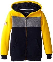 U.S. Polo Assn. Little Boys' Colorblock Fleece Hoodie