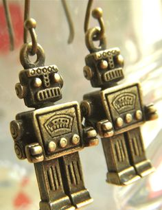 Robot earrings!