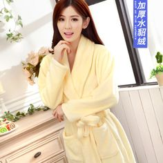 1361fa13ac Autumn and winter flannel pajamas women sexy towel robe tracksuit female  winter coral fleece bathrobe-