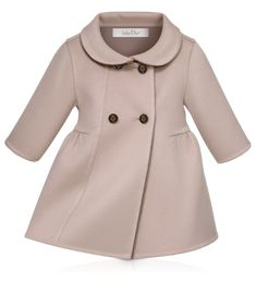 BABY DIOR - Pink and taupe double-sided cashmere dress | For the