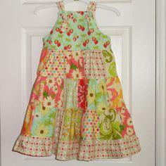 Strawberry Meadow Girls Dress Patchwork Knot Dress by Amievoltaire, $39.95