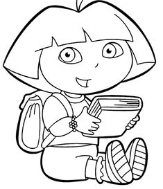 Dora Coloring Pages | Dora the Explorer Coloring Pages - Free Dora Coloring Images in Sheets