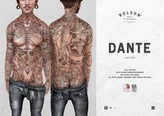 >The Mens Dept August NEW *Bolson Tattoo / Dante | Flickr - Photo Sharing!