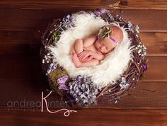 Flower and moss Birds Nest Baby Prop newborn by PropsandPoses