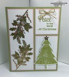 Peaceful Wreath Peaceful Pines 1 - Stamps-N-Lingers