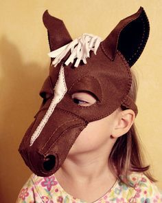 Horse Mask PDF Pattern by oxeyedaisey on Etsy, $5.50                                                                                                                                                                                 More