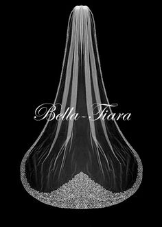 Affordable cathedral wedding veils are at Bella-tiara. These long and elegant bridal veils can be customized with additional tiers, blushers and crystal edge finishes. Bridal Veils And Headpieces, Cathedral Wedding Veils, Crystal Wedding, Dream Wedding, Formal Wedding, Marie, Wedding Ideas, Wedding Planning, Wedding Dresses