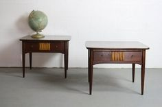 MUST HAVE Pair of 2 Mid Century Modern End Tables SALE