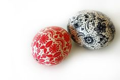 hand painted eggs by lisa tilse