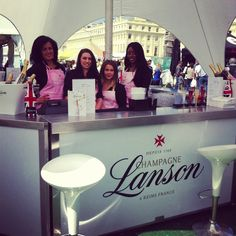 The Lanson champagne girls at Foodies Festival Brighton.