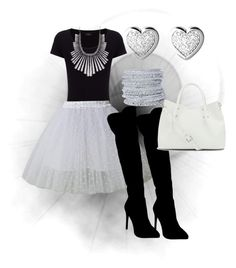 Black, white and silver...part 2 by aleta-ashley on Polyvore featuring polyvore, fashion, style, Joseph, Chicwish, Atmos&Here, Vince Camuto, Links of London, Lucky Brand, Chamak by Priya Kakkar, fashionaddict and stylelover