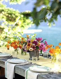 Love this tablescape for a garden party or outdoor reception