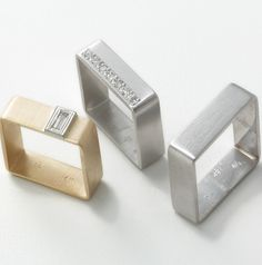 STUart Jewelry Designs Square Rings  ~ StuartJewelryDesigns.com
