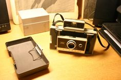 Fantastic Polaroid Automatic 330 Land Camera With Cover & Strap, Apperars To Work Perfect No Film, Great Steampunk Indusrial Look Ships Now!