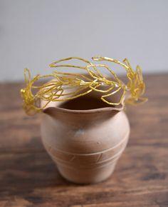 Gold Sprig  bridal headband golden wedding by littlehinLEE on Etsy