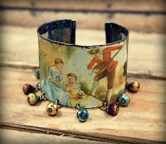 Recycled Metal Cuff Bracelet created from by PrimitiveFringe