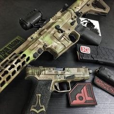 Agency Arms: A little EPIC Agency Arms love from the Cerakote Master himself... Blown Deadline! ( BDL Custom Finish )