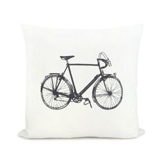 Personalized pillow case  Vintage bicycle print by ClassicByNature, $30.00