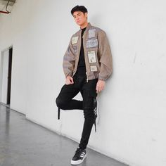 Image may contain: one or more people, people standing and shoes Donny Pangilinan, My Bebe, Ldr, People People, Cute Photos, Cute Boys, Crushes, Bomber Jacket, It Cast