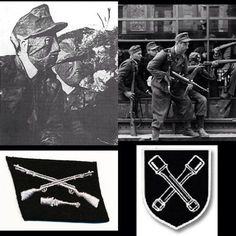The worst of the worst! The 36th Waffen Grenadier Division of the SS (pic Members of the SS-Sonderregiment Dirlewanger with camo masks and in a window of a townhouse at 9 Focha Street in Warsaw, August 1944 during Warsaw Uprising. Left botom, collar insignia, right bottom semi-official insignia of the division) also known as the SS-Sturmbrigade Dirlewanger or simply the Dirlewanger Brigade, was a military unit about 4,000 strong of the Waffen-SS during World War II. Composed of criminals…