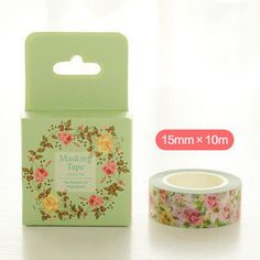 10M Floral Washi Tape Box - Spring Flowers Washi Tape
