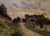 A Small Street in Louveciennes - Alfred Sisley - www.alfredsisley.org