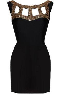 Glamorous Gladiator Bodycon Dress - Black