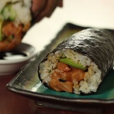 times when you don't want to eat sushi delicately.those times when you don't want to eat sushi delicately. Sushi Recipes, Seafood Recipes, Asian Recipes, Cooking Recipes, Healthy Recipes, Easy Japanese Recipes, Japanese Desserts, Cucumber Recipes, Vegetarian Recipes