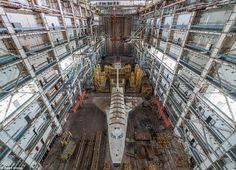 Photographer Ralph Mirebs visited this abandoned hangar near the Baikonur Cosmodrome to ca...