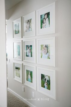 a clean beautiful photo wall