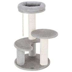Ollieroo Small Cat Tree Condo Playhouse with Sisal Scratch Posts Kitty Furniture Tower Moon Shaped Ladder Gray >>> Visit the sponsored product link more details. Cat Tree Condo, Cat Condo, Furniture Scratches, Pet Furniture, Small Cat Tree, Cat Tree Designs, Cat Towers, Kitten Toys, Cat Room