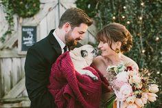 Aaaawww, ... - Terrain Winter Wedding by Lauren Fair Photography - via ruffled