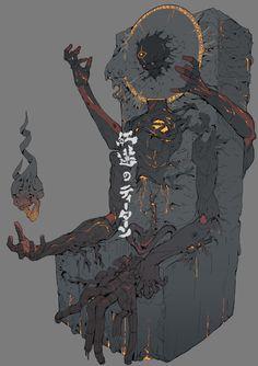 The Fallen one, Ching Yeh on ArtStation at https://www.artstation.com/artwork/X6qEy